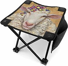 liang4268 Lady Sheep Tabouret de Camping Pliable