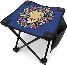 liang4268 Tabouret de Camping Lion with Mane of