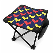 liang4268 Tabouret de Camping Pattern with Cock