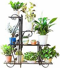LIANGLIANG Fer Forgé Étagères pour Plantes