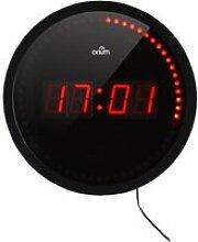 LIBERTY Horloge à LED Ø30 cm noir et rouge