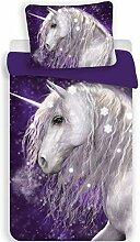 Licorne Purple - Parure de lit - Housse de Couette