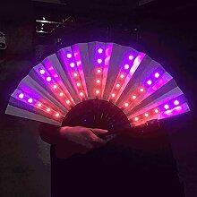 lifBetter Ventilateur pliable coloré à LED,