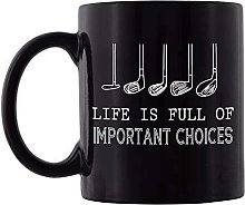 Life Is Full Of Important Choices Mug Funny Golf