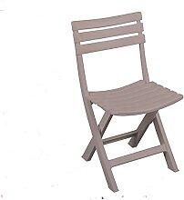 LIFEDECO Taupe Chaise Pliante Fauteuil Design en