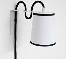 LIGHTBOOK-Applique H13,5cm blanc gansé noir