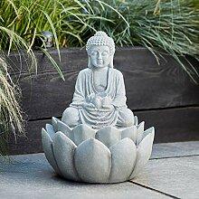 Lights4fun Fontaine Décorative Bouddha pour