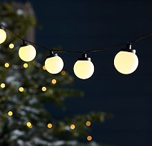 Lights4fun Guirlande Guinguette avec 30 LED Blanc