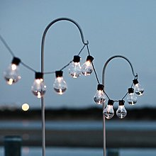 Lights4fun Guirlande Guinguette Solaire 20