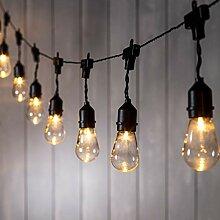 Lights4fun Guirlande Guinguette Solaire avec 15