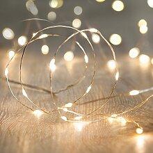 Lights4fun Guirlande Lumineuse avec 100 Micro LED