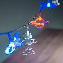 Lights4fun Guirlande Lumineuse d'Astronautes