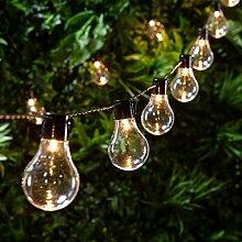 Lights4fun Guirlande Lumineuse Guinguette avec 20