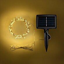 Lights4fun Guirlande Lumineuse Solaire 100 Micro