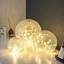 Lights4fun Lot de 3 Déco Boules Lumineuses LED