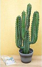 Ligne Déco | Grand Cactus Euphorbe Artificiel à