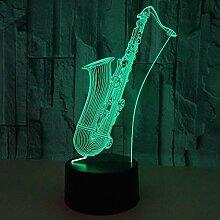 LIkaxyd Nouveau Saxophone 3D Lumière