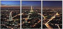 LILHXIU Art mural 3 pièces Paris Tour Eiffel