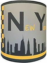 LILI Pouce - Abat-Jour Ville De New York, Jaune,