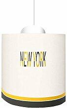 LILI Pouce - Suspension New York, Jaune, Diam. 25
