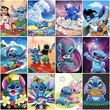 Lilo & Stitch – mosaïque de diamants peints