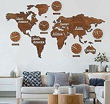 LIMEID Carte du Monde en Bois 3D avec Ensemble