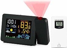 LIMEID Horloge météo Projection, Thermomètre de