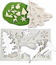 Limeow Noël Série Moule en Silicone 3D Noël