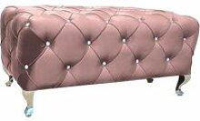 Lindie - banc rembourré style glamour - 46x100x50
