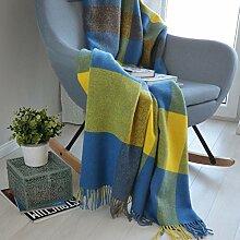 Linen & Cotton Couverture Chaude et Douce à