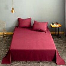 Linge de lit blanc teint 1 pièce, drap plat