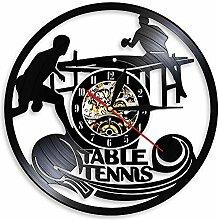 LINMING Horloge Murale en Vinyle Tennis de Table