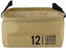 Linnea Panier de rangement 13L en jute beige / 12