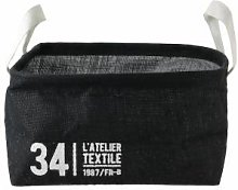 Linnea Panier de rangement 13L en jute noir / 34