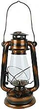 linoows Lampe tempête lampe à pétrole XL Bronze