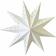 LIOOBO 2pcs 9 pointu étoile blanche papier
