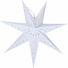 LIOOBO 7 Pointu étoile Blanche Papier Lanterne