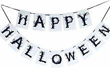 LIOOBO bannière 1pc Halloween Heureux Suspendu
