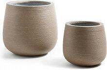 Lisa - 2 cache-pots design marron