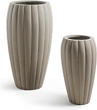 Lisandre - 2 cache-pots design ciment