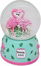 Lispeed Ballon de neige avec flamant rose, motif