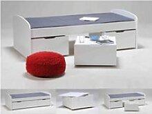 Lit 3 tiroirs en bois blanc 90x200 - lt14016