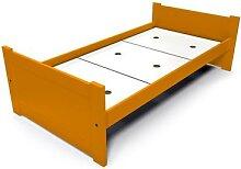 Lit 90x190 1 place bois hêtre Solo 90x190 Orange