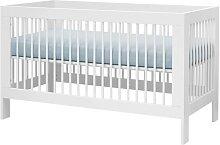 Lit bébé blanc évolutif Harmonie 70 cm x 140 cm