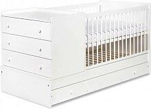 Lit bébé évolutif 3 en 1 Compact Blanc