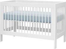 Lit bébé évolutif Harmonie 60 cm x 120 cm Blanc