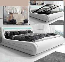 Lit coffre design Rodas – blanc (160x200cm)