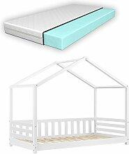 Lit d'enfant Design Forme Maison avec