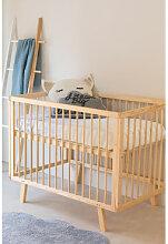 Lit de bébé en bois pour enfants Tianna Marron
