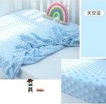 Lit de bébé en coton à pois, couvre-lit épais